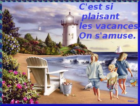 enfants sur la plage petit