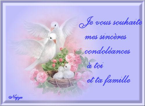 Sincères condoléances à toi et ta famille